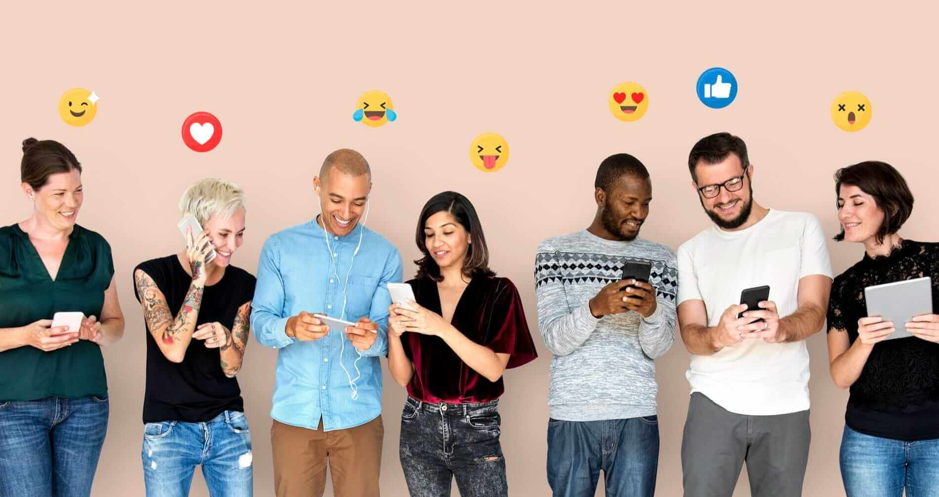 happy-diverse-people-using-digital-devices